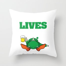 St. Patrick Drunk Lives Matter T-shirt Design Let's get drunk! Let's get Wasted! Drunken Lives Throw Pillow