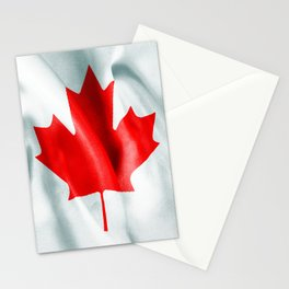 Canada Flag Stationery Cards