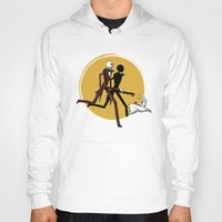 tintin Hoodies featuring Jack and zero by le.duc
