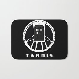 Agents of TARDIS black and white Agents of Shield, Doctor Who mash up Bath Mat