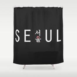 Seoul hangul K-pop  Shower Curtain