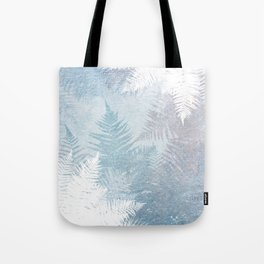 Fern Snowflakes - Taupe, Aqua & Blues Tote Bag