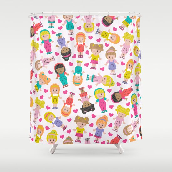 Polly Pocket Shower Curtain