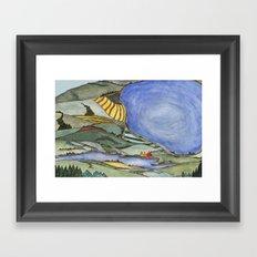 Large Lake Landscape Framed Art Print