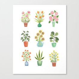 Mini Flower Garden Canvas Print