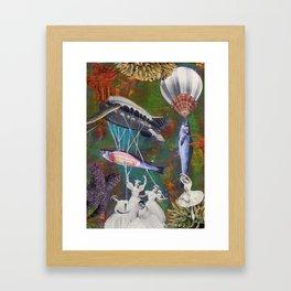 Underwater ballet Framed Art Print