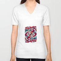 dance V-neck T-shirts featuring - dance - by Magdalla Del Fresto