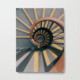 Circular Stair Metal Print