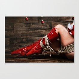 Christmas Babe - Fine Art of Bondage Canvas Print