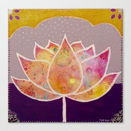 I am a lotus flower Canvas Print