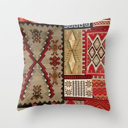 Native American Rugs Throw Pillow