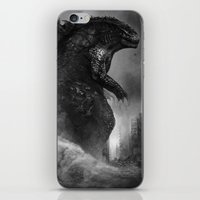 godzilla iPhone & iPod Skins featuring Godzilla by ffejeromdiks