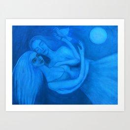 Lovers in Blue Art Print