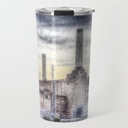 Battersea Power-Station London Snow Travel Mug