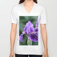 iris V-neck T-shirts featuring Iris by IowaShots