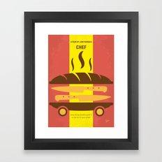 No524 My CHEF minimal movie poster Framed Art Print
