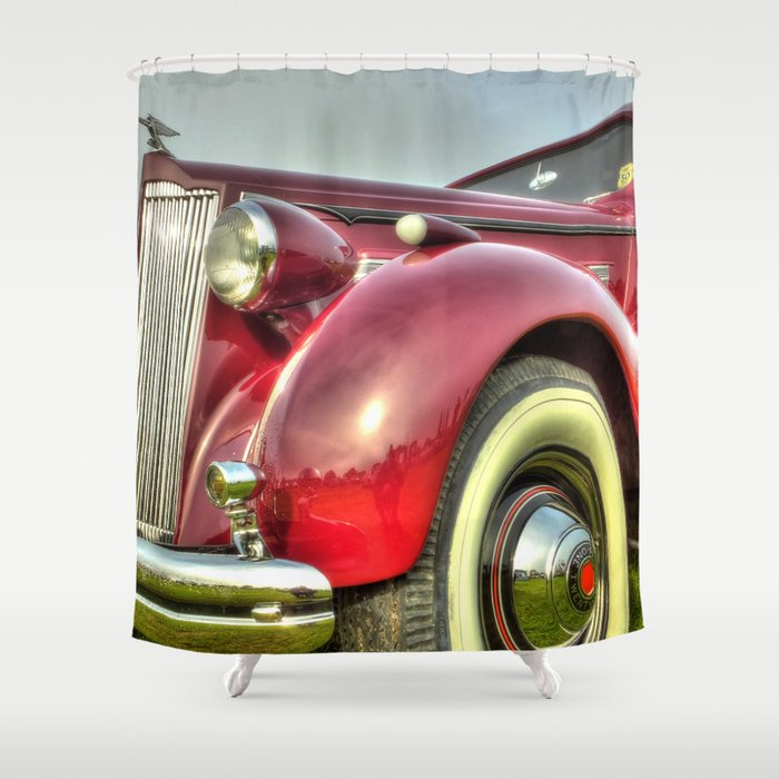 Packard Type 138 Vintage Saloon Car Shower Curtain