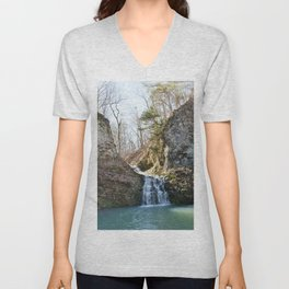 Alone in Secret Hollow with the Caves, Cascades, and Critters, No. 1 of 21 Unisex V-Neck