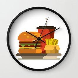 Cheeseburger Meal Wall Clock