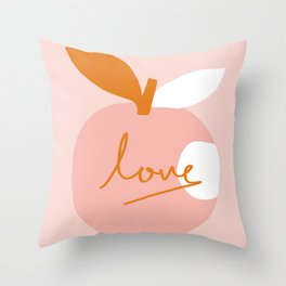 Abstraction_LOVE_BITE Throw Pillow