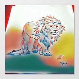Lion of light Canvas Print