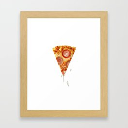 Pizza & Porn Framed Art Print