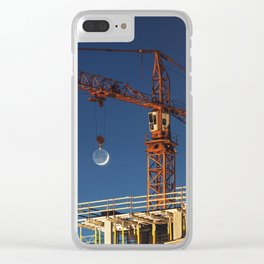 Lifting the Moon Clear iPhone Case