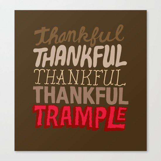 Thanksgiving, Black Friday Canvas Print
