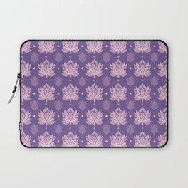 Gentle Pastel Pink  Lotus Flower Pattern Laptop Sleeve