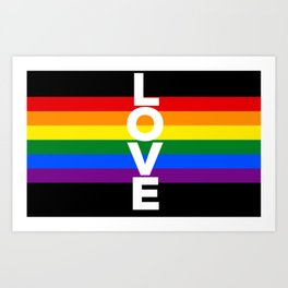 rainbow love, for LGBT pride Art Print