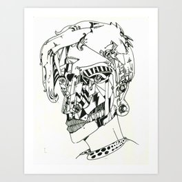 Modern Girl Art Print