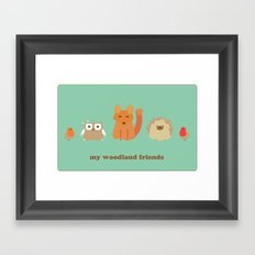 My woodland friends Framed Art Print
