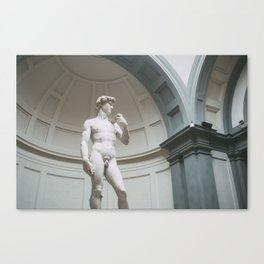 Florence, I Statue of David Canvas Print
