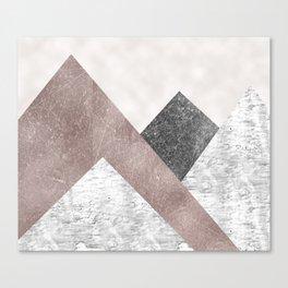 Rose grunge - mountains Canvas Print