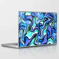 percy jackson Laptop & iPad Skins featuring Design PERCY abstract,blue by MehrFarbeimLeben