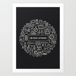Great Outdoors Inverted Art Print