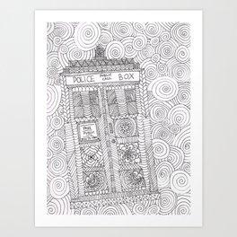Doctor Police Box Art Print