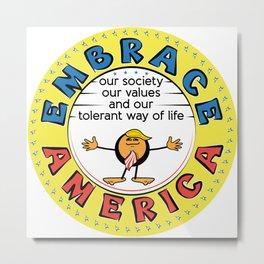 President Trump Emoticon Caricature Metal Print