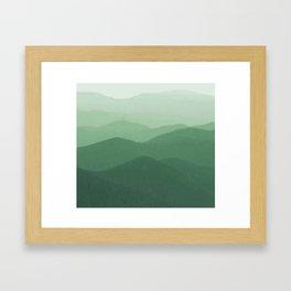Hunter Mountain summer Framed Art Print