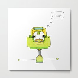 Robot: Just Like You Metal Print