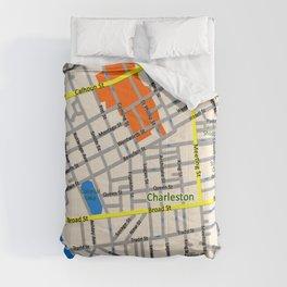 Map of Charleston, SC Comforters