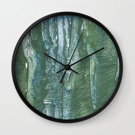 Blue green Wall Clock