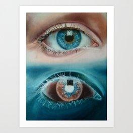 Inverted eye Art Print