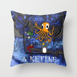 Kettle of Fish Throw Pillow