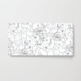 Floral field pattern Metal Print