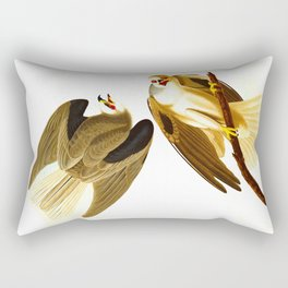 Black Winged Hawk Illustration Rectangular Pillow