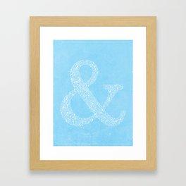 Ampersand of Ampersands Framed Art Print