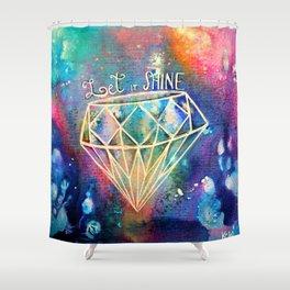 Let it Shine Shower Curtain