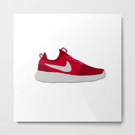 Roshe One Red Swoosh Sneaker Metal Print