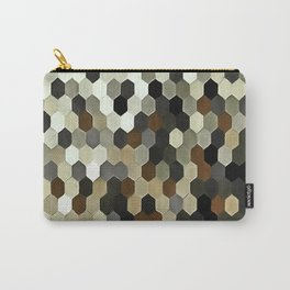 Honeycomb Pattern In Neutral Earth Tones Carry-All Pouch